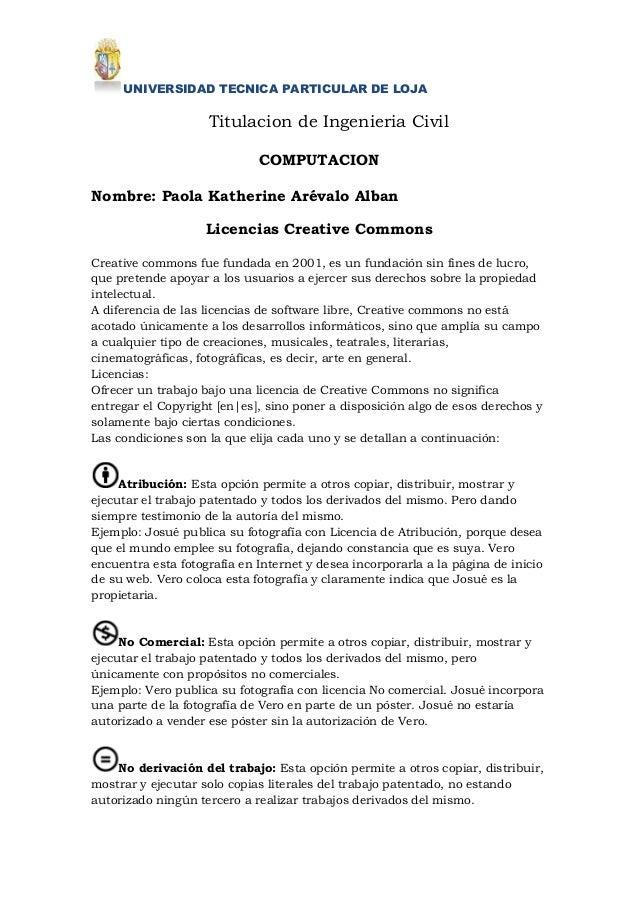 UNIVERSIDAD TECNICA PARTICULAR DE LOJA                    Titulacion de Ingenieria Civil                             COMPU...