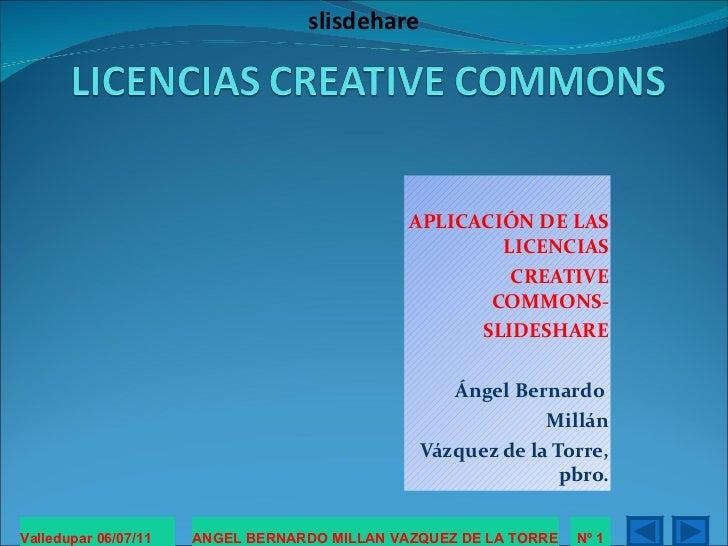 Licencias creative commons slideshare.