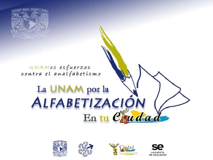 Alfabetización DF :: Pláticas Lic. UNAM