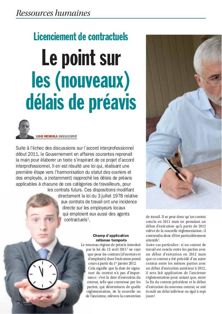 Ressources humaines                Licenciement de contractuels             Le point sur           les (nouveaux)         ...