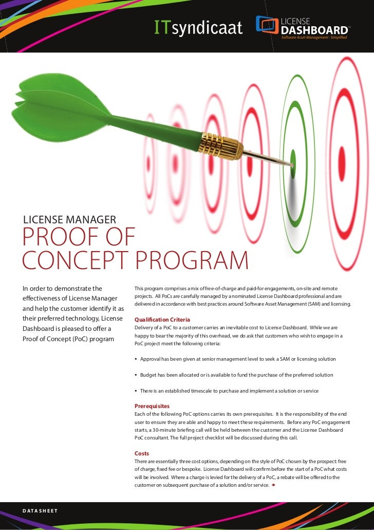 License Manager - proof of concept program