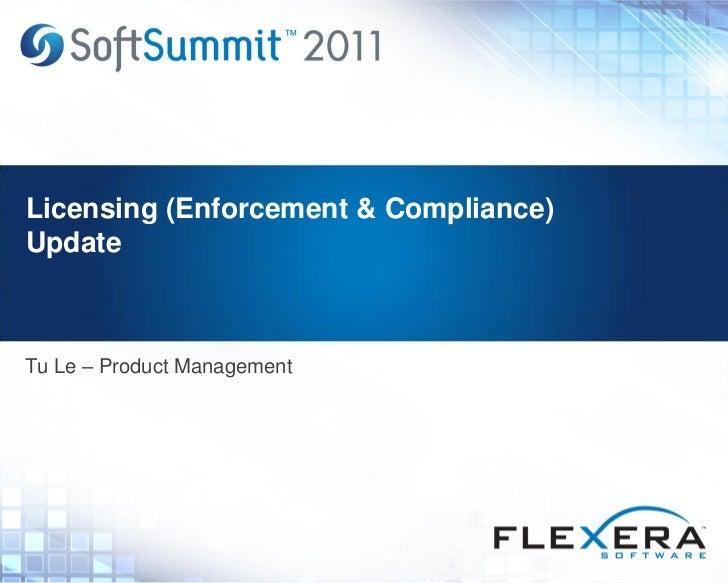 Licensing (Enforcement & Compliance) Update