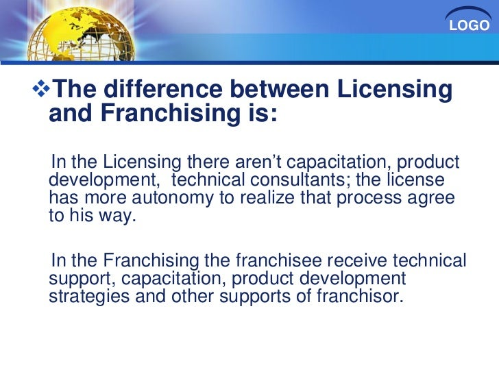 Risultati immagini per franchising vs licensing