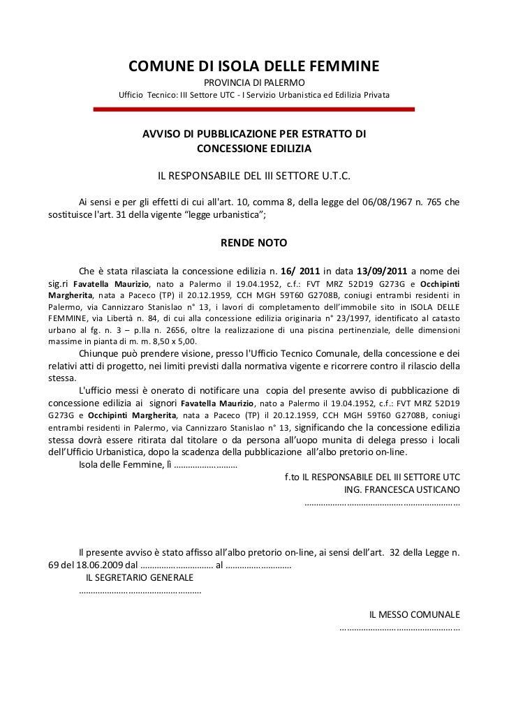 Licenza edilizia   2011  favatella maurizio occhpinti margherita  c.e. n.16.11[1]