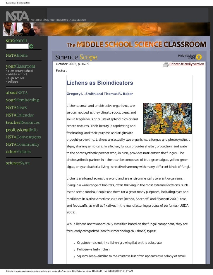 Lichens As  Bioindicators