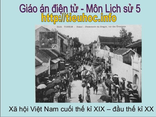 Xã hội Việt Nam cuối thế kỉ XIX – đầu thế kỉ XX