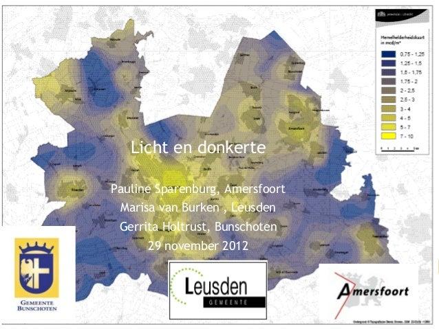 1/12 titel van de presentaties              Licht en donkerte       Pauline Sparenburg, Amersfoort           Marisa van Bu...