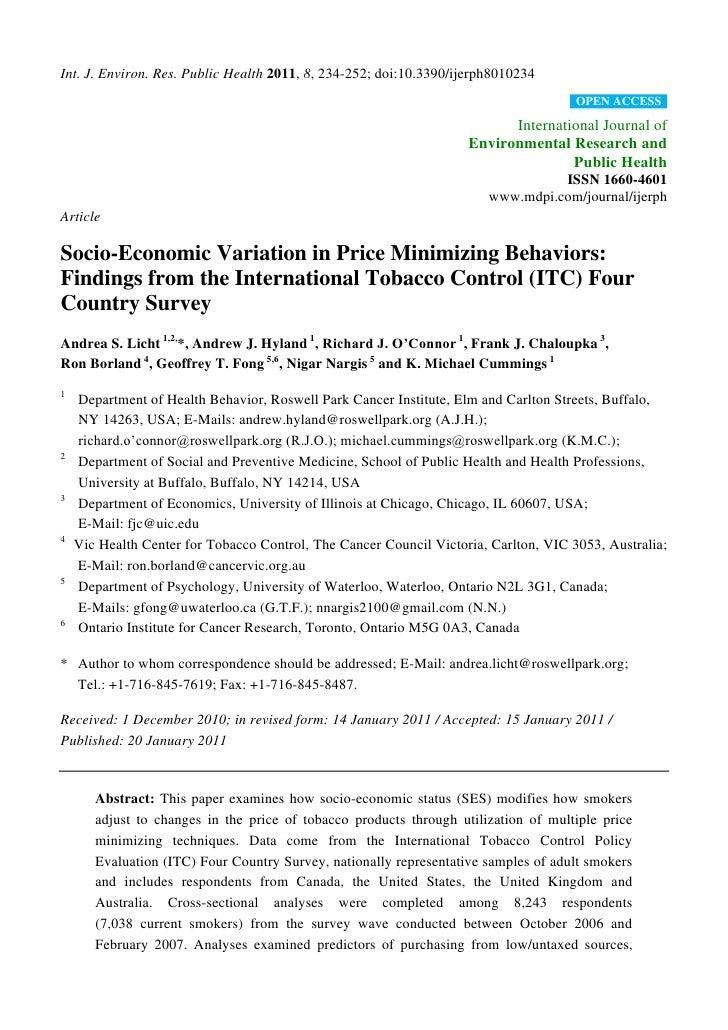 Int. J. Environ. Res. Public Health 2011, 8, 234-252; doi:10.3390/ijerph8010234                                           ...