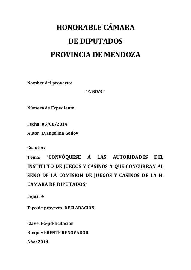 Proyecto de Declaración - Licitacion juegos y casinos