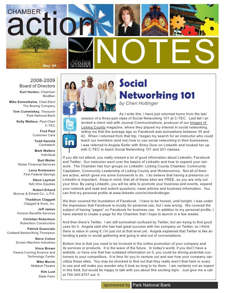 Licking County Chamber Newsletter 09 May