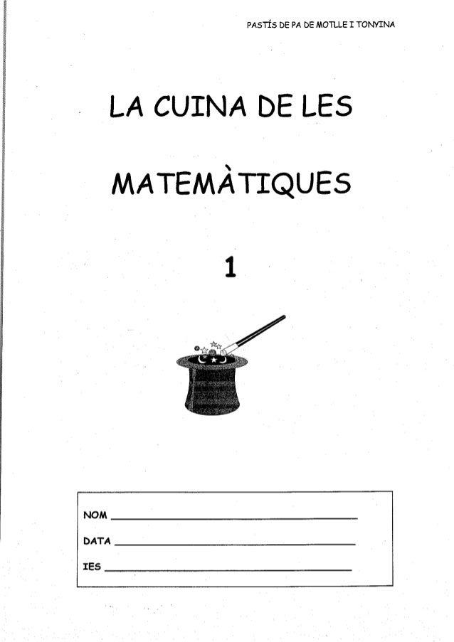 Lic la cuina de les matemàtiques 1