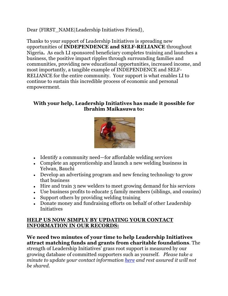 Leadership Initiatives Contact Gathering Document