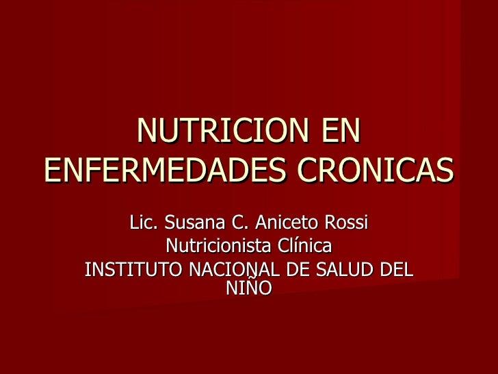 Nutricion en Enfermedades cronicas