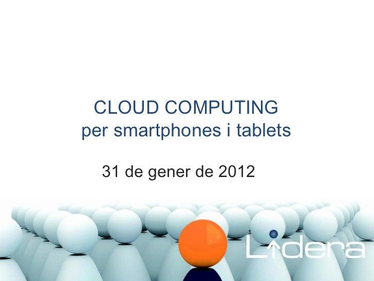Formació Cloud Computing. Gener 2012