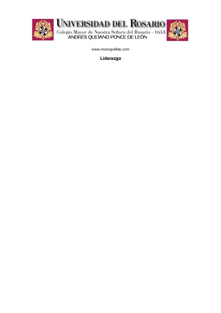 www.monografias.com    Liderazgo