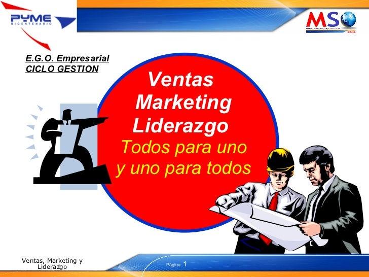 Ventas  Marketing Liderazgo  Todos para uno y uno para todos E.G.O. Empresarial CICLO GESTION
