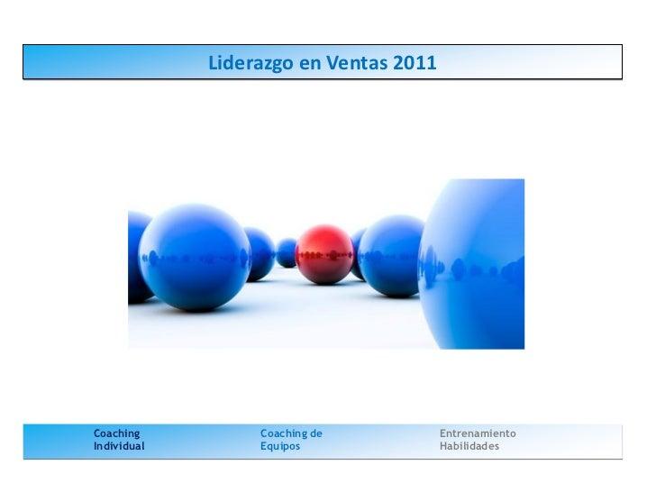 Liderazgo en ventas 2011