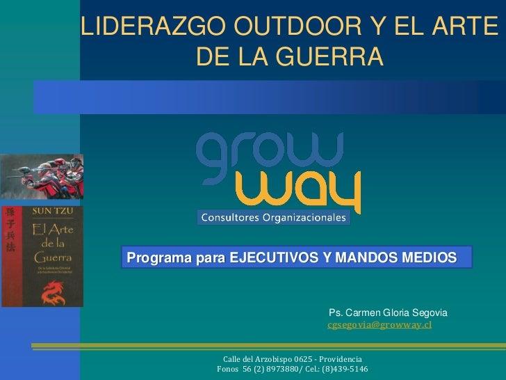 LIDERAZGO OUTDOOR Y EL ARTE       DE LA GUERRA  Programa para EJECUTIVOS Y MANDOS MEDIOS                                  ...