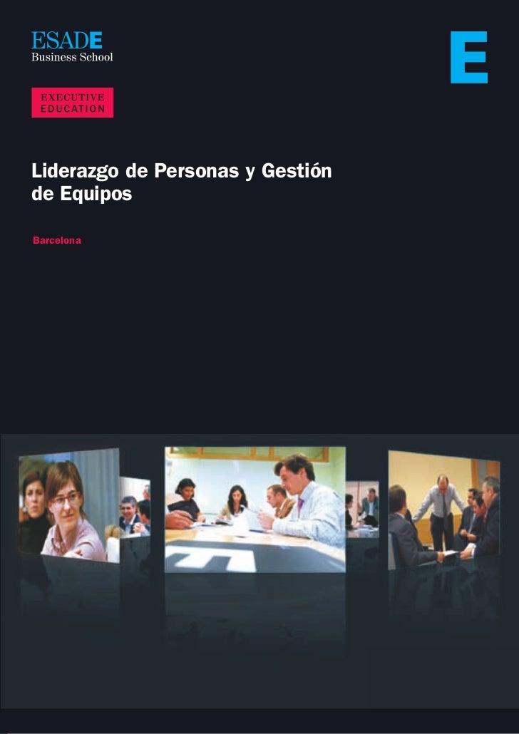 Liderazgo personas ESADE EXED  lpge 2011
