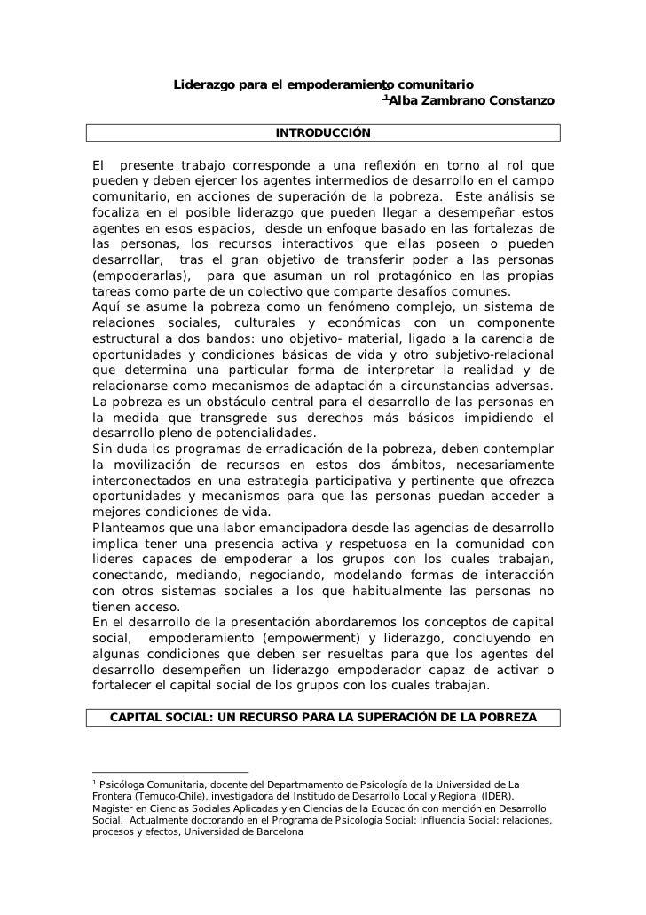 Liderazgo Y Empoderamiento   Alba Zambrano