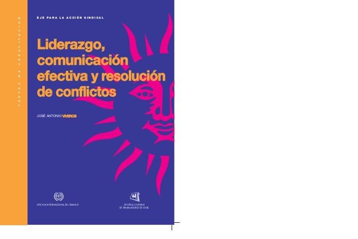 Liderazgo y resolucion de conflictos