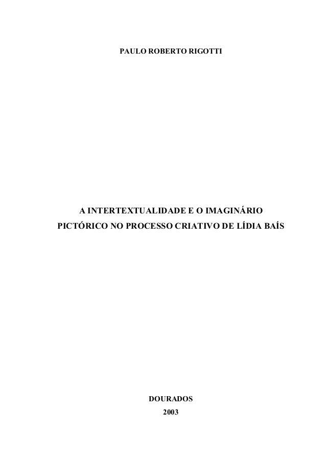 Lidia baís dissertação de paulo rigotti