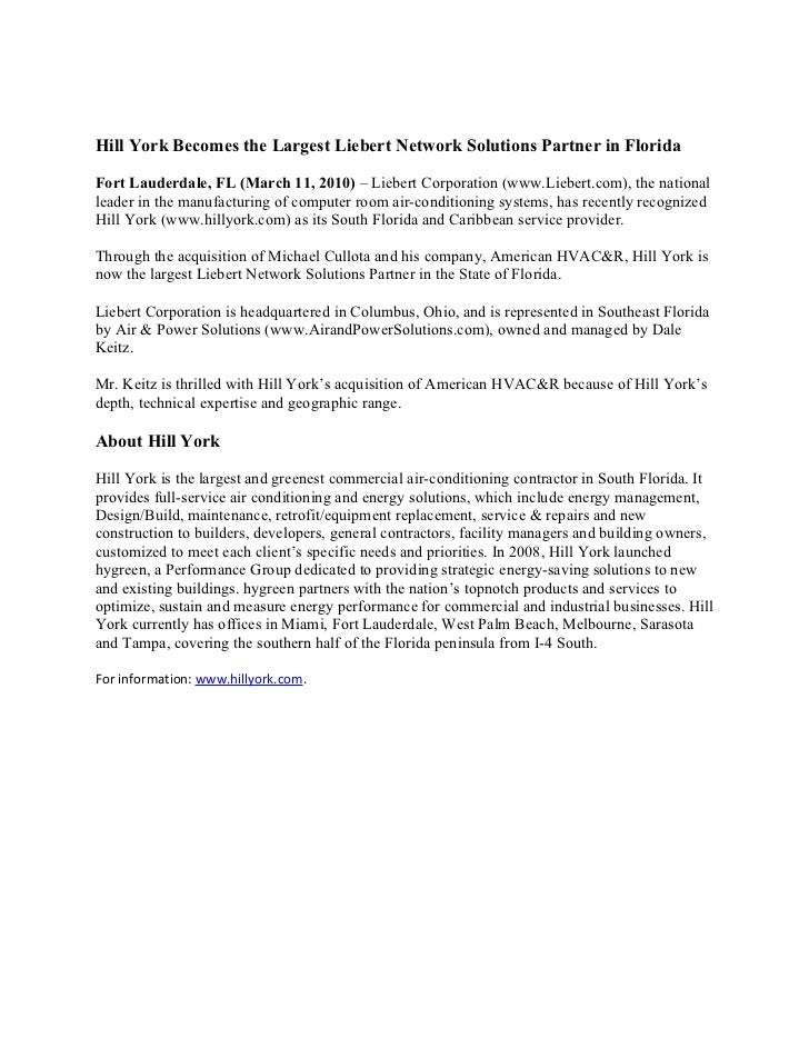 Liebert network solutions partner in florida