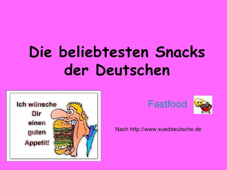 die beliebtesten Snacks der deutschen