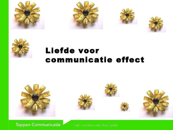 Liefde voor  communicatie effect