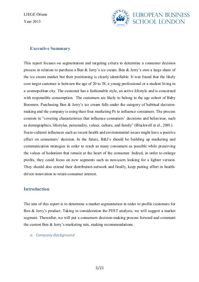 ben jerrys franchise research paper Ben and jerry's ice cream marketing in six pages this research paper examines ben and jerry's in a consideration of its corporate structure.