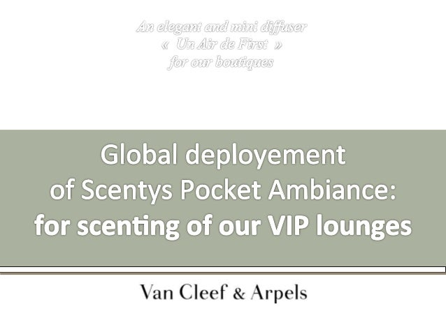 Diffuser Scentys Pocket Ambiance for VIP lounges