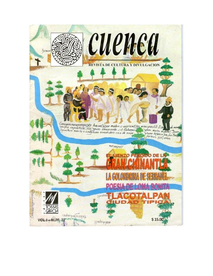Lienzo Perdido de la Chinantla, Revista Cuenca