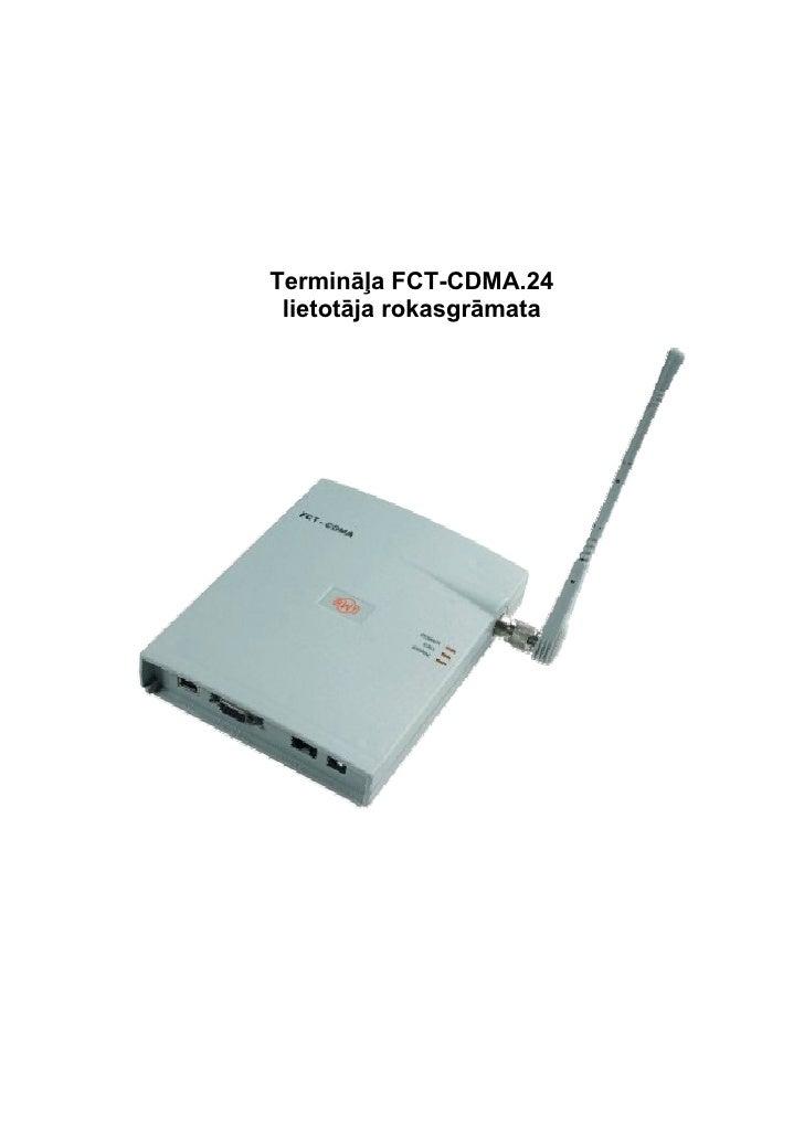 Liet Instrukcija Fct Cdma 24 2000 Xp Lat Pdf