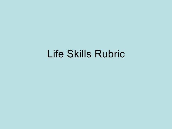 Life Skills Rubric