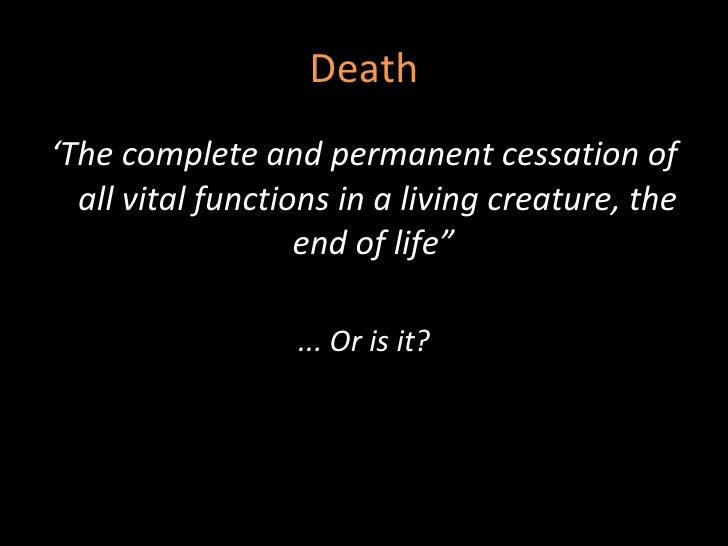 an introduction to the creative essay on the topic of death