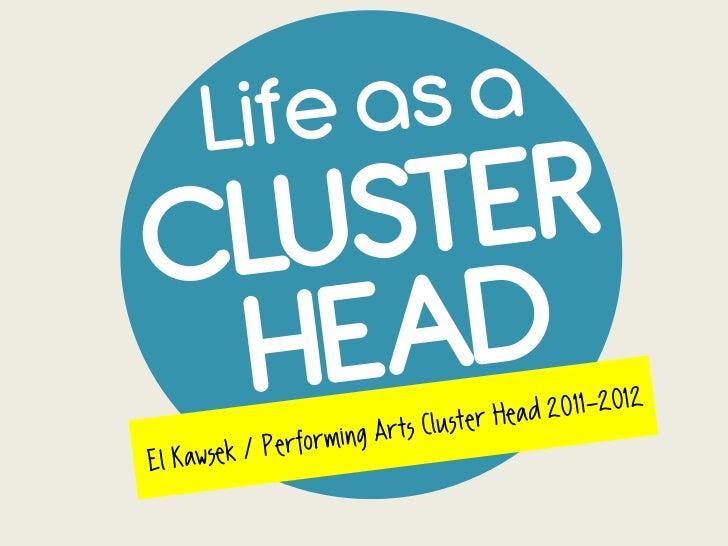 Life as a Cluster Head (COA Transition Seminar 2012)