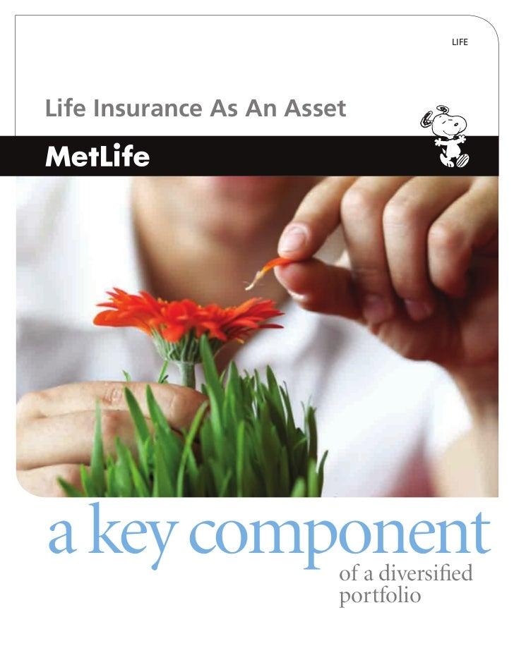 LIFELife Insurance As An Asseta key component          of a diversified                         portfolio