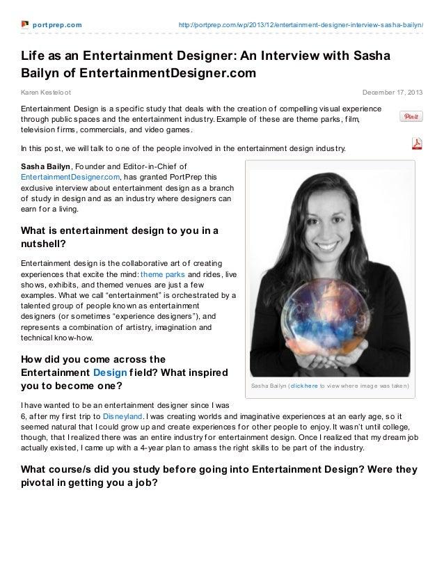 Life as an Entertainment Designer an Interview with Sasha Bailyn of EntertainmentDesigner.com