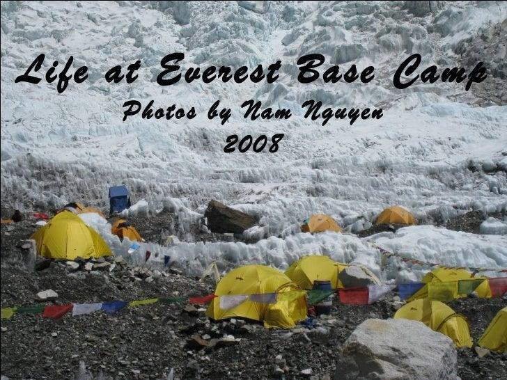 Life at everest base camp