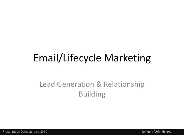 Email/Lifecycle Marketing                         Lead Generation & Relationship                                   Buildin...