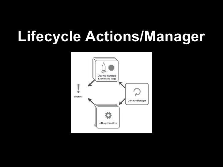 Lifecycle actions manager