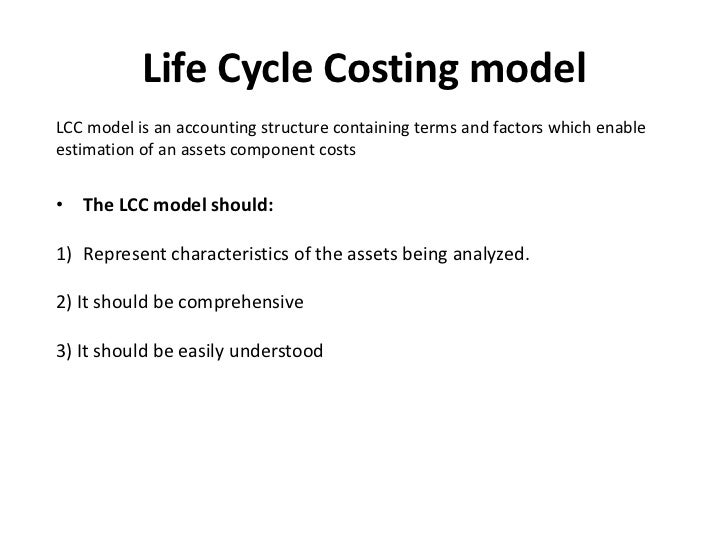life cycle costing pdf notes