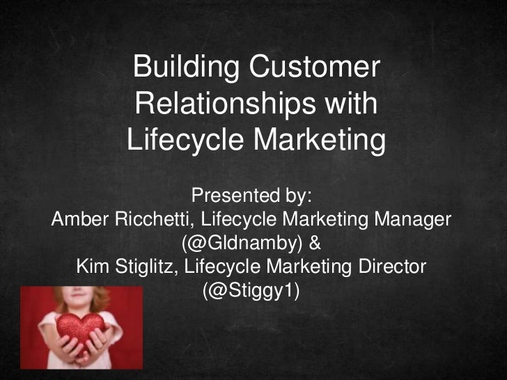 Building Customer        Relationships with        Lifecycle Marketing                 Presented by:Amber Ricchetti, Lifec...