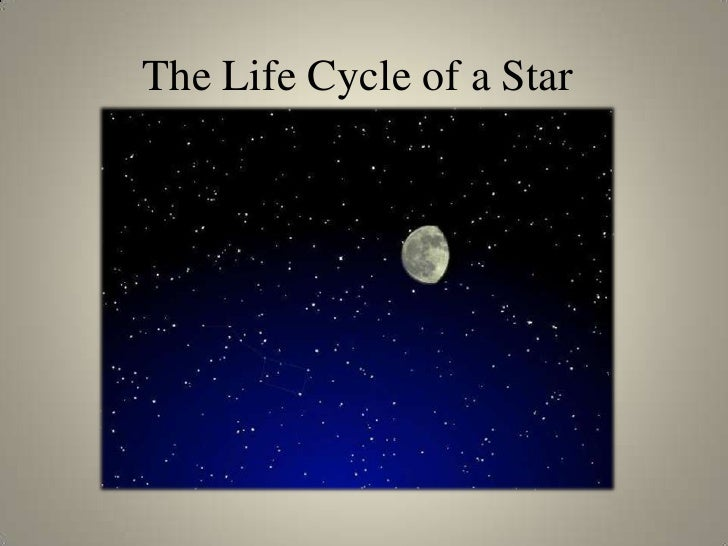 The Life Cycle of a Star<br />