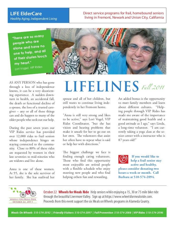 LIFE ElderCare                                              Direct service programs for frail, homebound seniorsHealthy Ag...