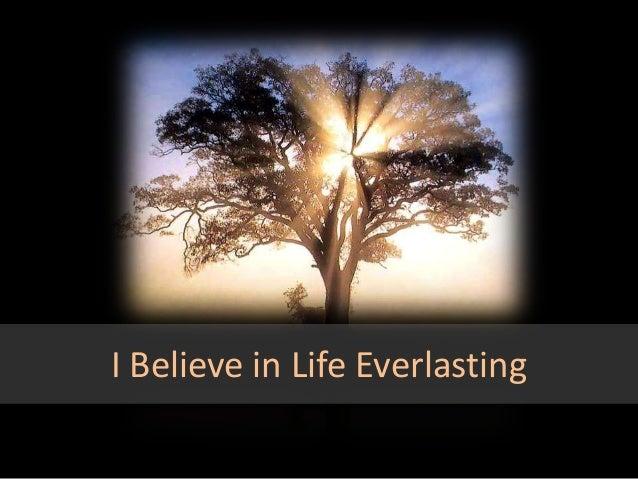 Life everlasting: www.slideshare.net/michelleshyam/life-everlasting