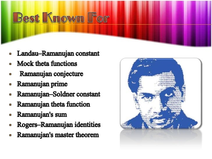 essay on life history of srinivasa ramanujan In this essay i will discuss the journey of the great mathematician srinivasa ramanujan i will mention his background including his family, education and early.