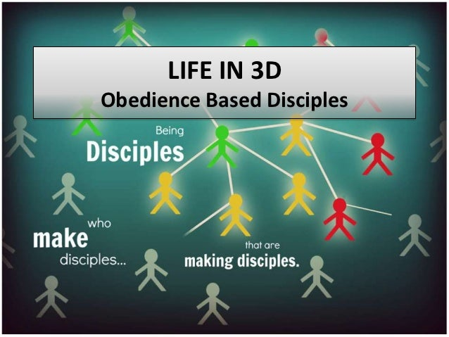 LIFE IN 3DObedience Based Disciples