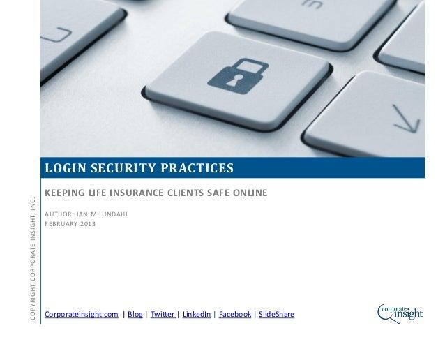 Life Insurance Monitor - Login Security (Dec'12)