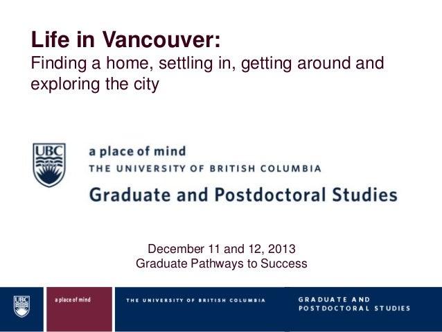 Life in Vancouver - Graduate Student Webinar